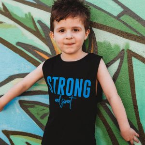 Boys Strong and Sweet Muscle Tank