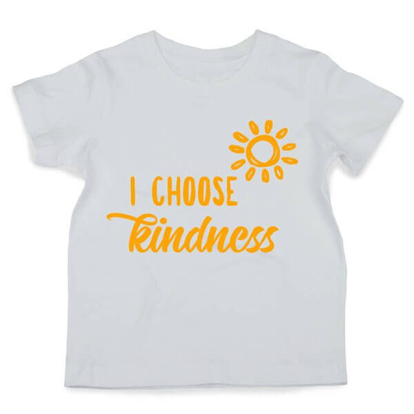 I Choose Kindness Tshirt Flatlay
