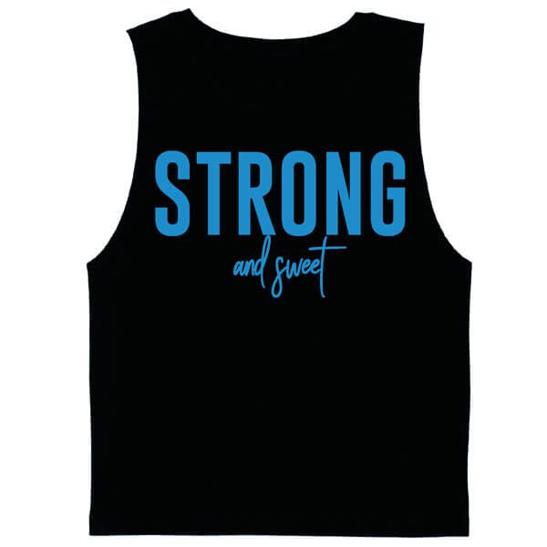 Boys Strong and Sweet Muscle Tank Flatlay
